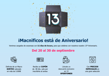 El 13º Aniversario de Macnificos propone 12 ofertas de accesorios y periféricos para Mac y iPhone