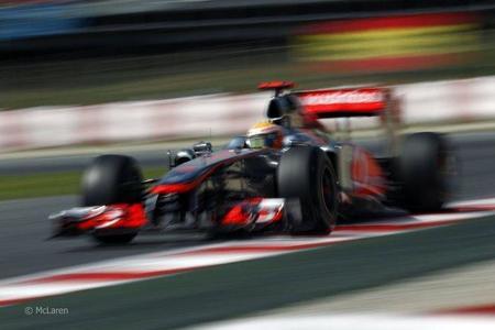 Lewis Hamilton en el GP de España de F1 de 2011