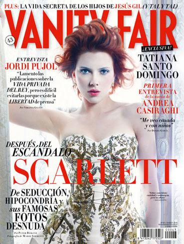Scarlett Johansson en la portada de Vanity Fair España: making of internacional
