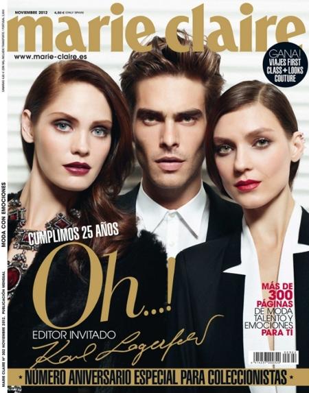 Karl Lagerfeld felicita a Marie Claire España por su 25 aniversario