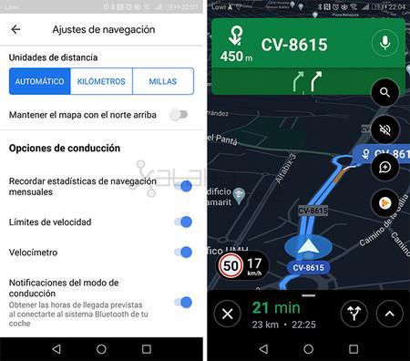 Google Maps Límite Velocidad