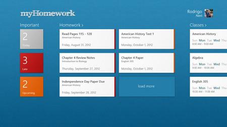 myHomework, planifica tus clases desde Windows 8. La aplicación de la semana