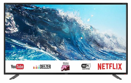 Smart TV de 43 pulgadas Sharp LC-43UI7252E, con resolución 4K, por 329 euros y envío gratis en Amazon