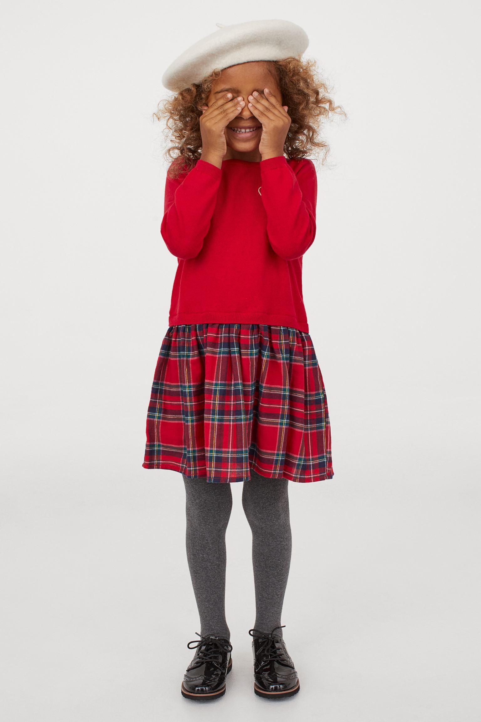 Vestido de algodón rojo