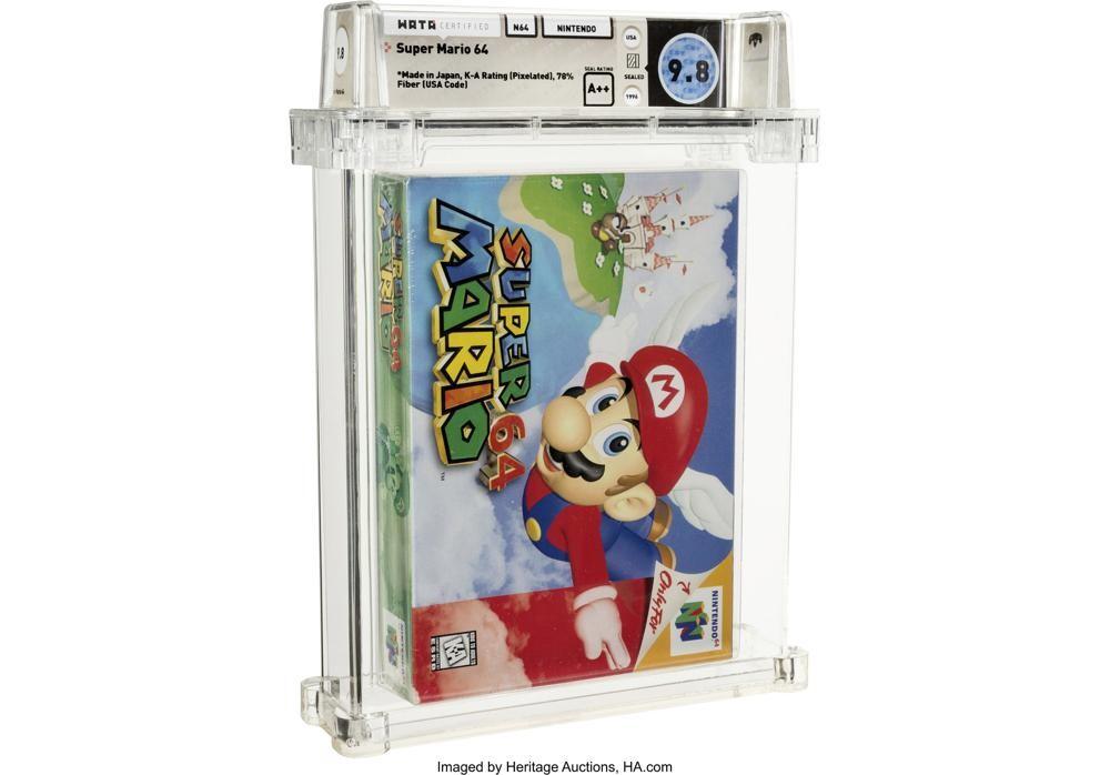 1,56 millones de dólares por una copia precintada de Super Mario 64: las subastas de videojuegos alcanzan la locura