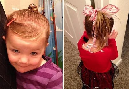 Dad Does Daughter Ponytail Cosmetology School Greg Wickherst 8