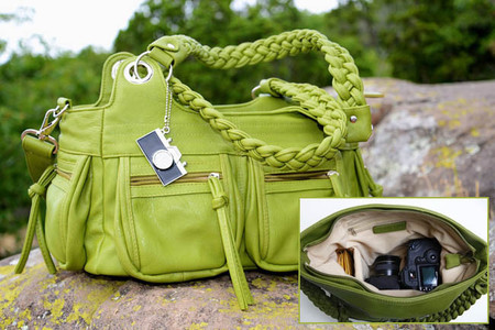 epiphanie lyric olive camera bag
