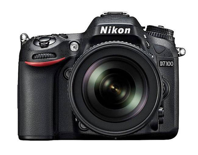 Nikon D7100 vista frontal