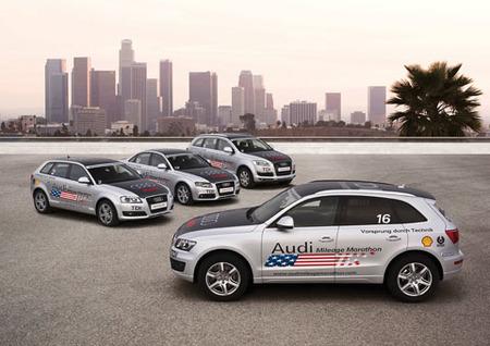 Una flota de Audi TDI atraviesa Estados Unidos de Este a Oeste