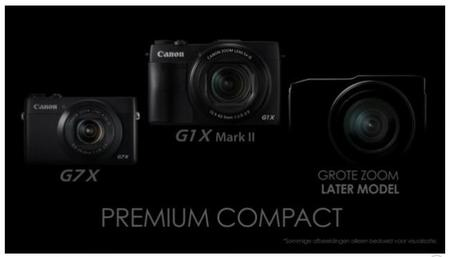 La filial holandesa de Canon desvela una nueva compacta avanzada que «se codeará» con las G1 X Mark II y la G7 X