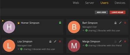Plex sigue mejorando: cuentas de usuarios diferenciadas y controles parentales
