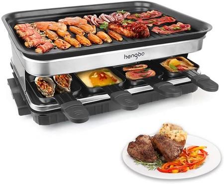 Raclette Grill Con 8 Mini Sartenes