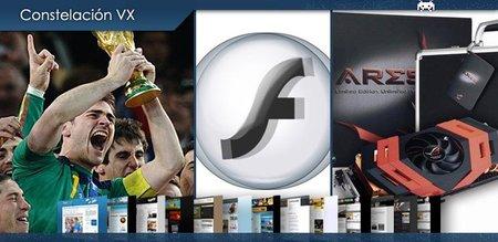 España campeona del mundo, Flash 3D y la tarjeta gráfica más potente del mercado. Constelación VX (XIII)