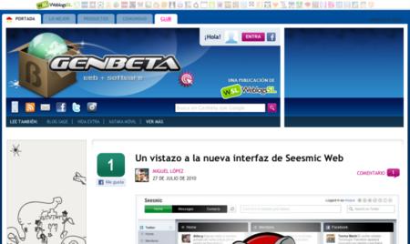 Mejoras en los compartidos de Facebook, comentarios y nuevas pestañas en Genbeta
