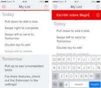 Begin, una sencilla lista de tareas para el iPhone basada en gestos