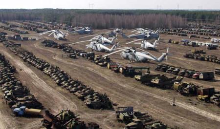 Chernóbil y los vehículos radioactivos que allí quedaron olvidados