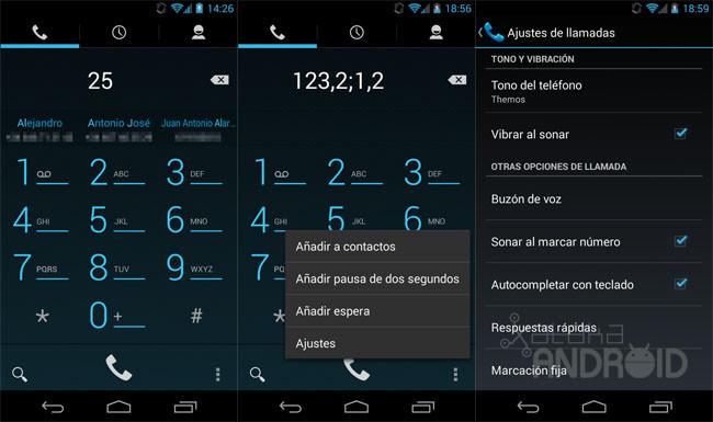 Llamadas en Android 4.3 (Jelly Bean)
