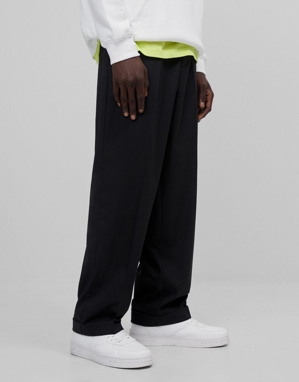 Pantalón negro tailoring wide leg