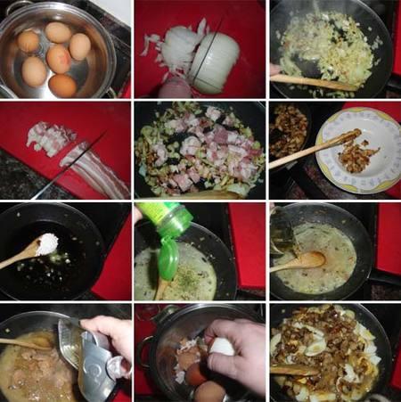 Preparación de los huevos Getxo