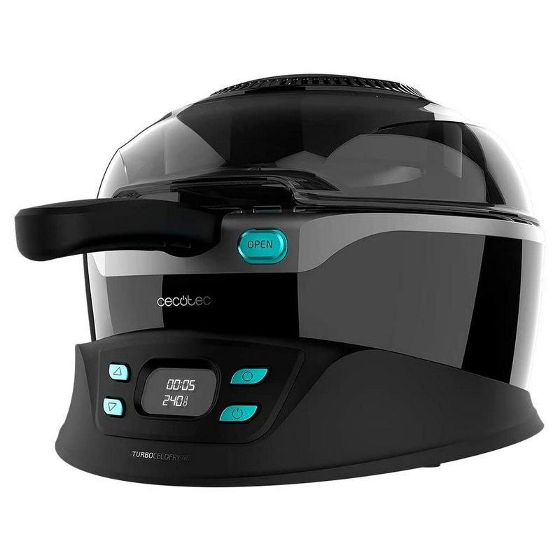 Freidora sin aceite - Cecotec Turbo Cecofry 4D Healthy, 3 l, 1350 W, De 100 ºC a 240 ºC, 8 programas, Negro