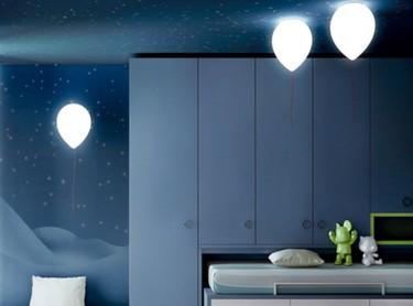 Lámparas que parecen globos para la habitación infantil