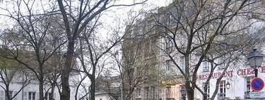 La plaza de los pintores en Montmartre (París)