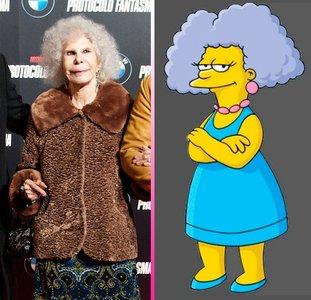 Separadas al nacer: La Duquesa de Alba y la hermana de Marge Simpson