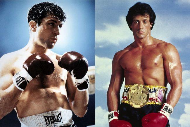 Robert de Niro en Toro Salvaje y Sylvester Stallone en Rocky
