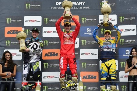 Podio Mx2 Alemania 2015
