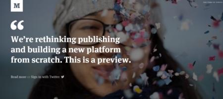 Más detalles sobre Medium, un nuevo servicio de publicación que trae novedades muy interesantes