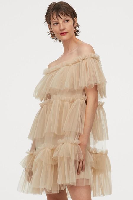 Vestido Escote Bardot Low Cost 01