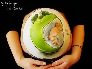 My Little Sweet Pea: aprovechando la barriga de la embarazada para hacer arte