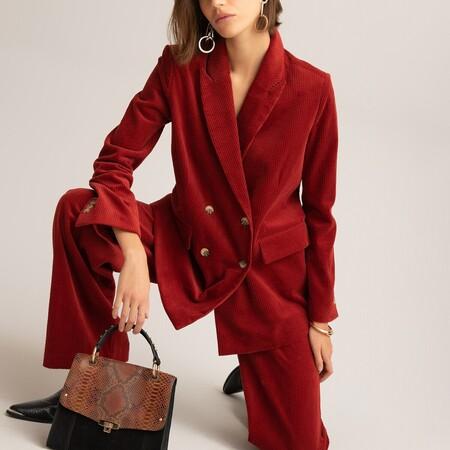 traje de chaqueta de pana