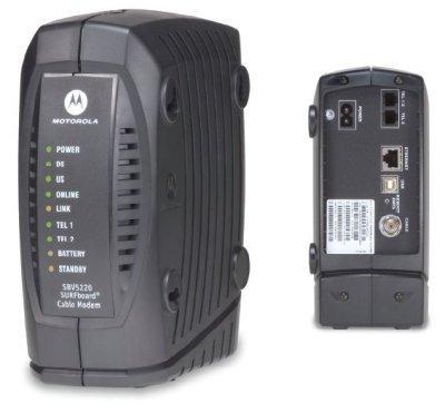 """Motorola SBV5220, cablemodem con batería """"por si acaso"""""""