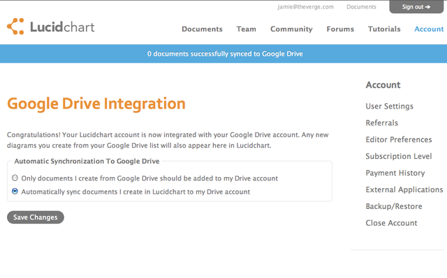 GoogleDrive Integration
