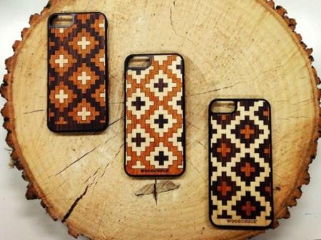 Da un toque tribal a tu smartphone con estas fundas de Woodchuck