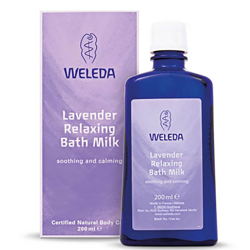 Leche de baño relajante de lavanda de Weleda