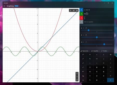 Así es el modo gráfico que estrenará la calculadora de Windows 10
