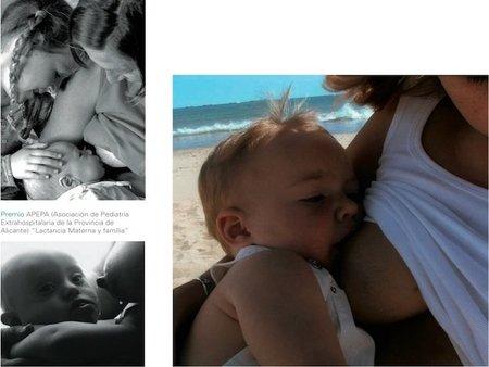 Precioso libro de fotografías de lactancia materna