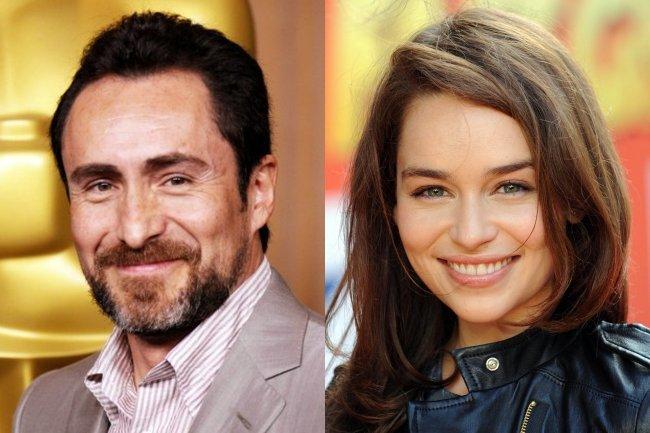 Demian Bichir y Emilia Clarke