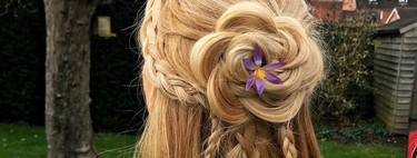 La última tendencia es convertir tu trenza en una flor, ¡y nos encanta!