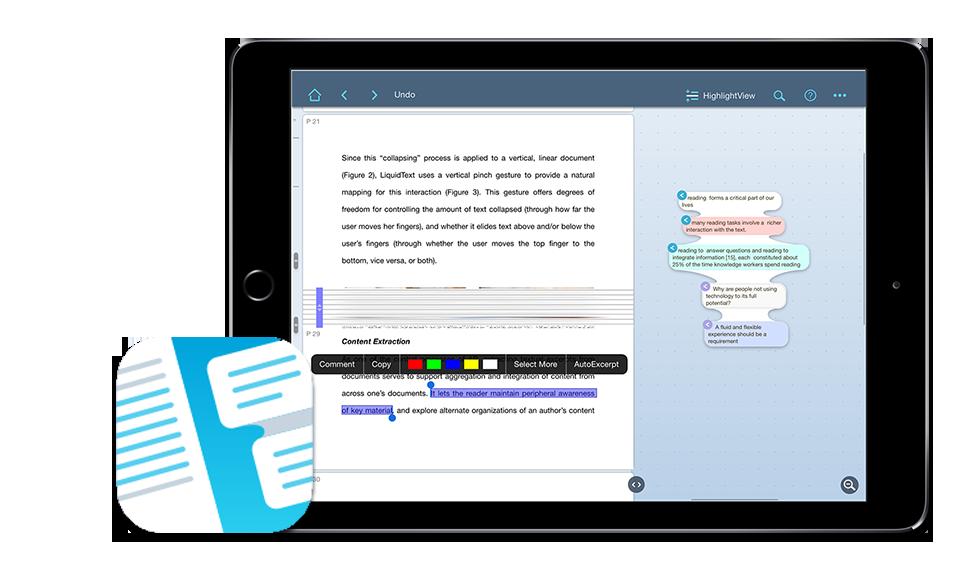 Liquidtext Ipad App1