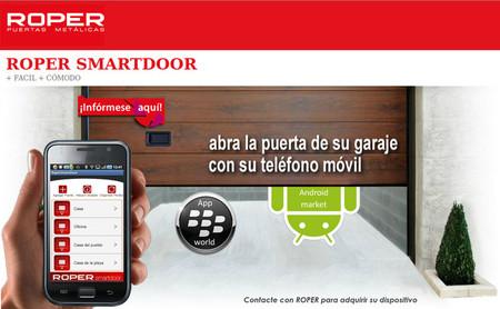 Roper Smartdoor, abriendo la puerta del garaje con el móvil