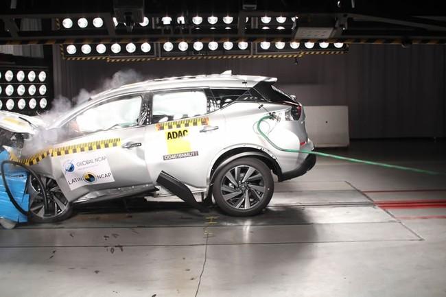 ¿Por qué el Nissan Murano con 7 airbags consiguió solo 2 estrellas en Latín NCAP?