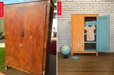 Antes y después: un precioso armario para un dormitorio infantil