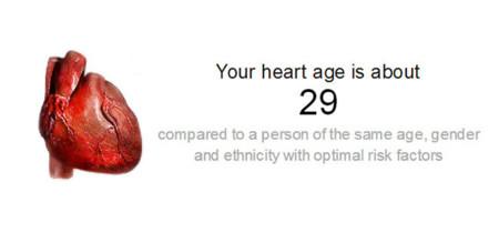 Una herramienta gratuita para calcular la edad de tu corazón