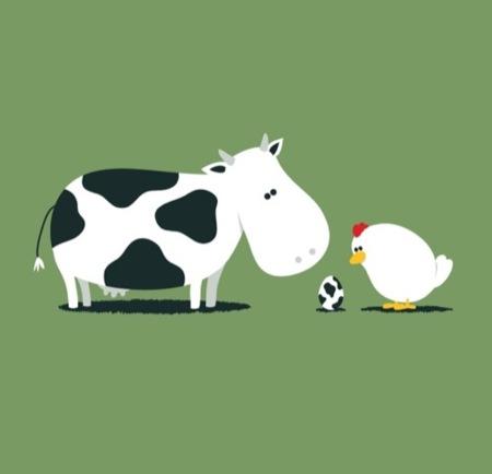 Las camisetas más divertidas de la década. Vaca