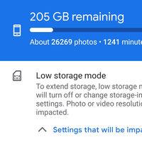 Cámara de Google 8.1 añade un modo de ahorro de espacio para cuando tienes el móvil casi lleno