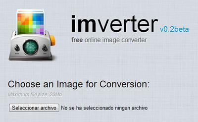 ImVerter: Convierte tus imágenes, gratis y en la nube