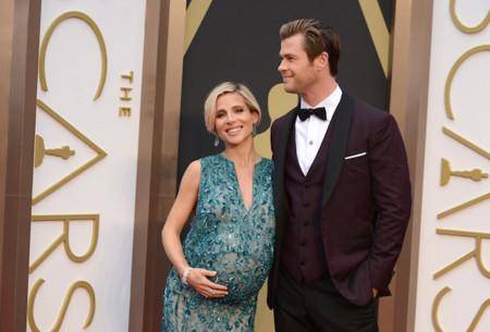 Una embarazadísima Elsa Pataky de Elie Saab en los Oscar 2014